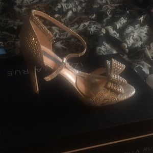 I.N.C Swarovski crystal heel. 5 inches, worn once.